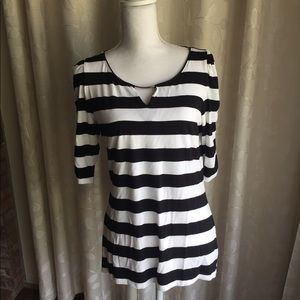 NWOT WHBM Striped Blouse